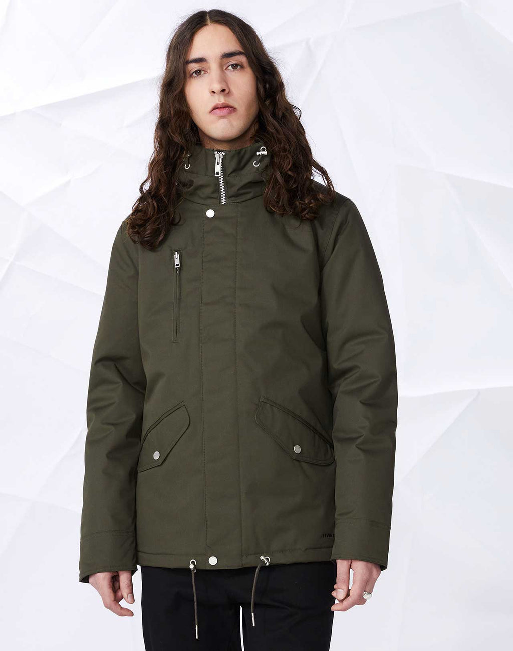 veste Cornell Army Green impermeable Elvine