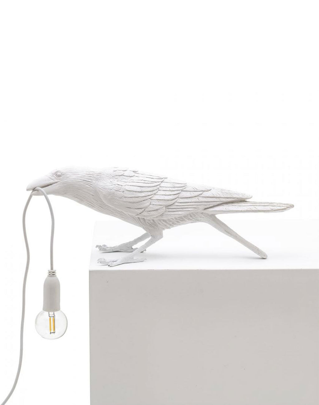 Bird Lamp Playing White Seletti vue de profil