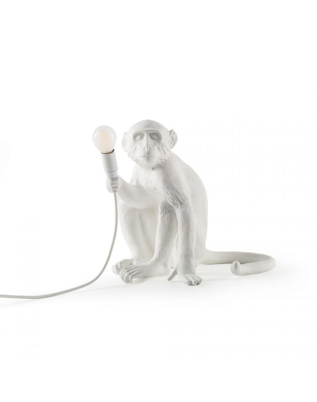 Monkey Lamp Sitting White Seletti vue de face