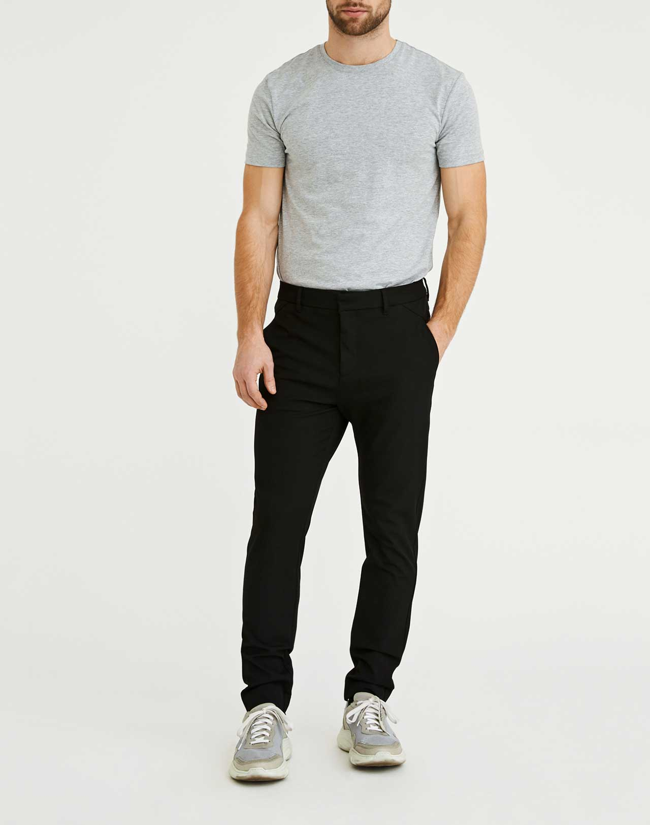 Pantalon Josh Noir Plain Units de face