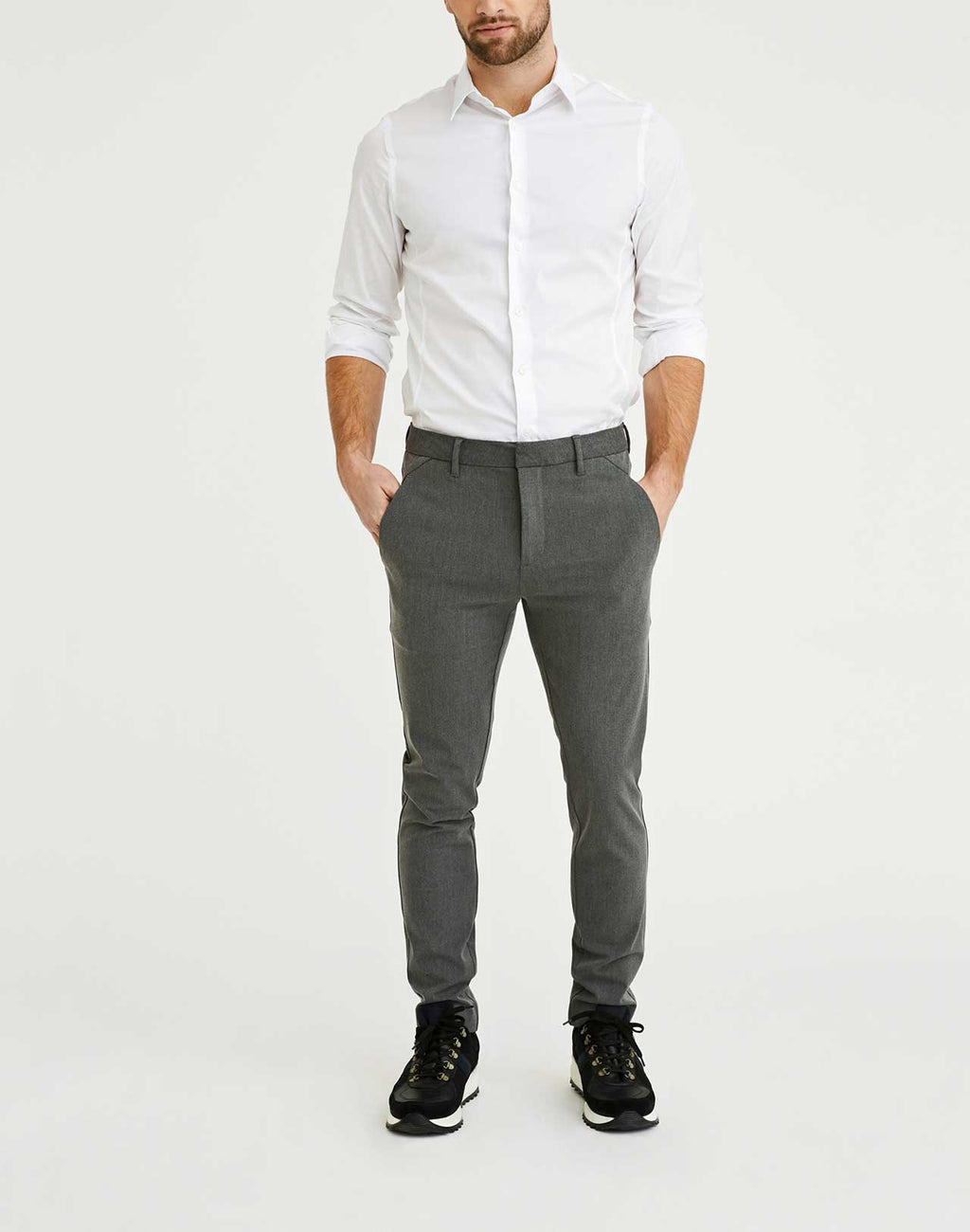 Pantalon Josh Gris Plain Units de face