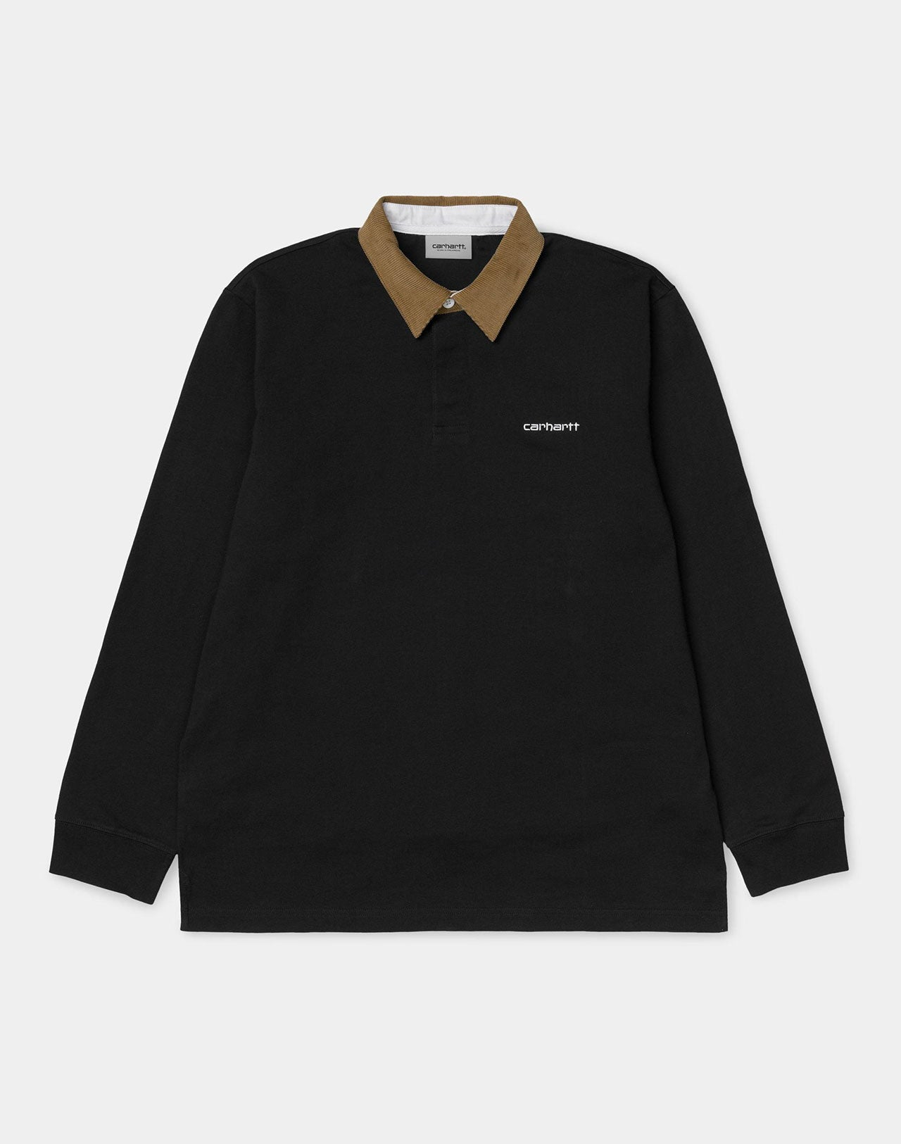 Polo L/S Cord Rugby Black Carhartt