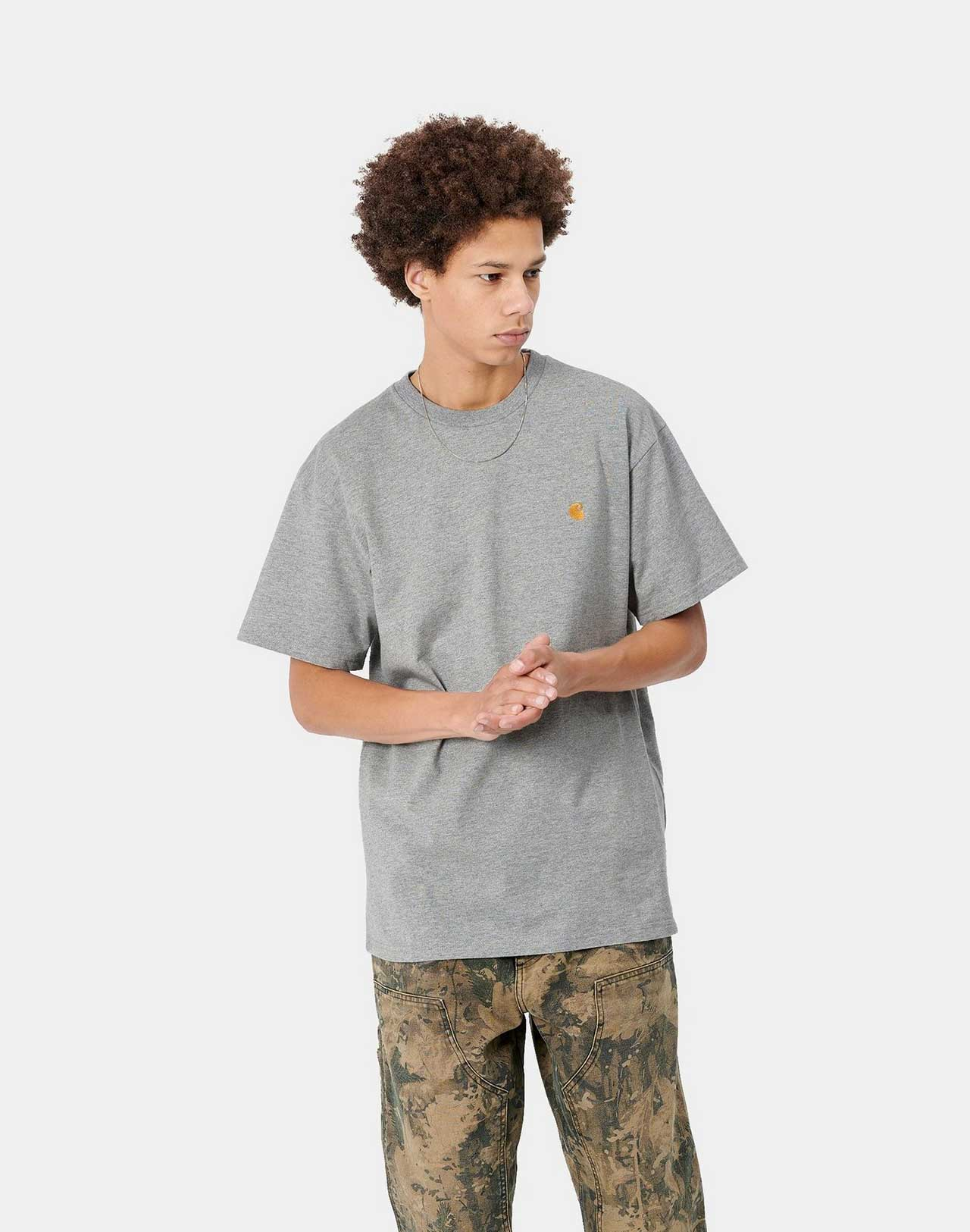 T-shirt Chase Grey/Gold Carhartt de face