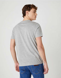 T-shirt Graphic Horse Tee in Mid Grey Mel Wrangler vu de dos