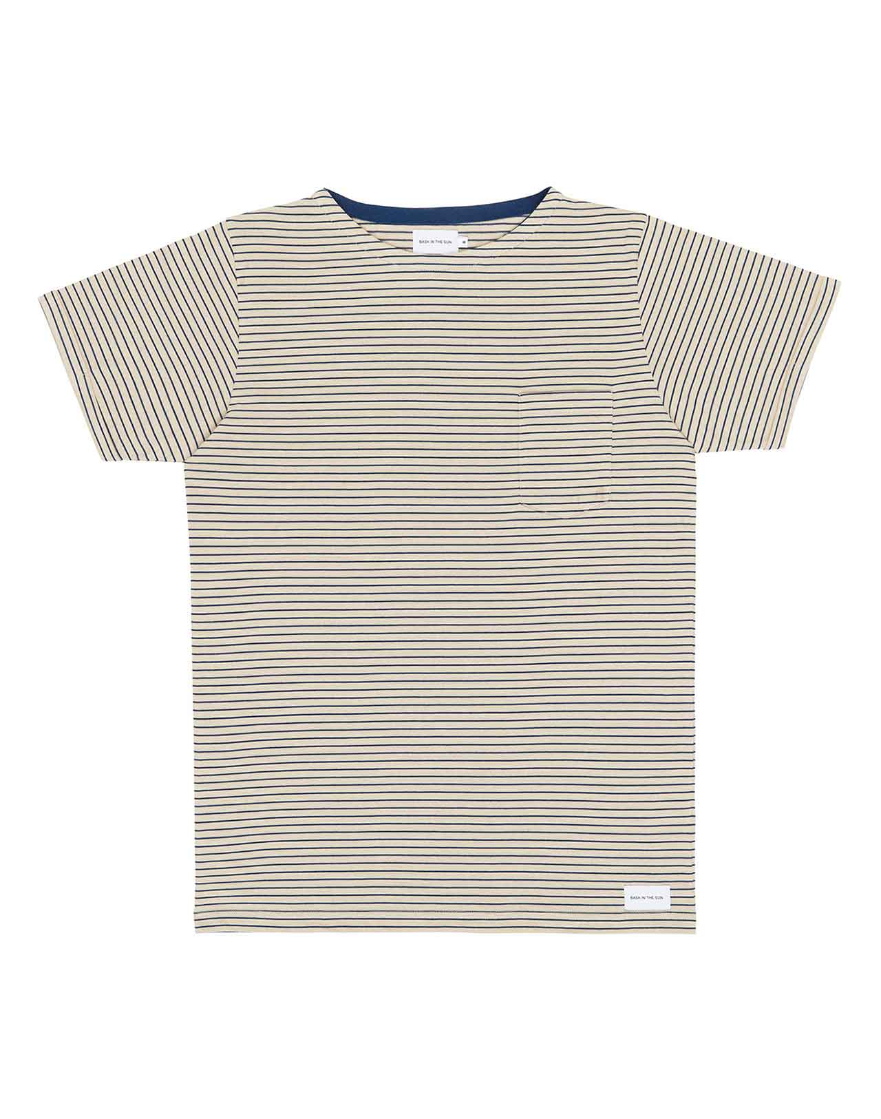 Tshirt rayé fond blanc Weedy Bask in the sun