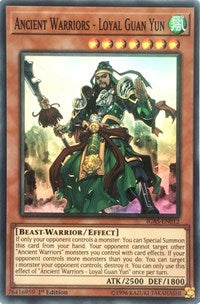Ancient Warriors - Loyal Guan Yun [IGAS-EN012] Super Rare | Battle Bliss
