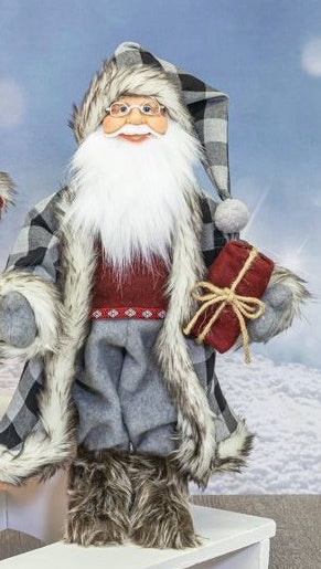 Buffalo Plaid Santa