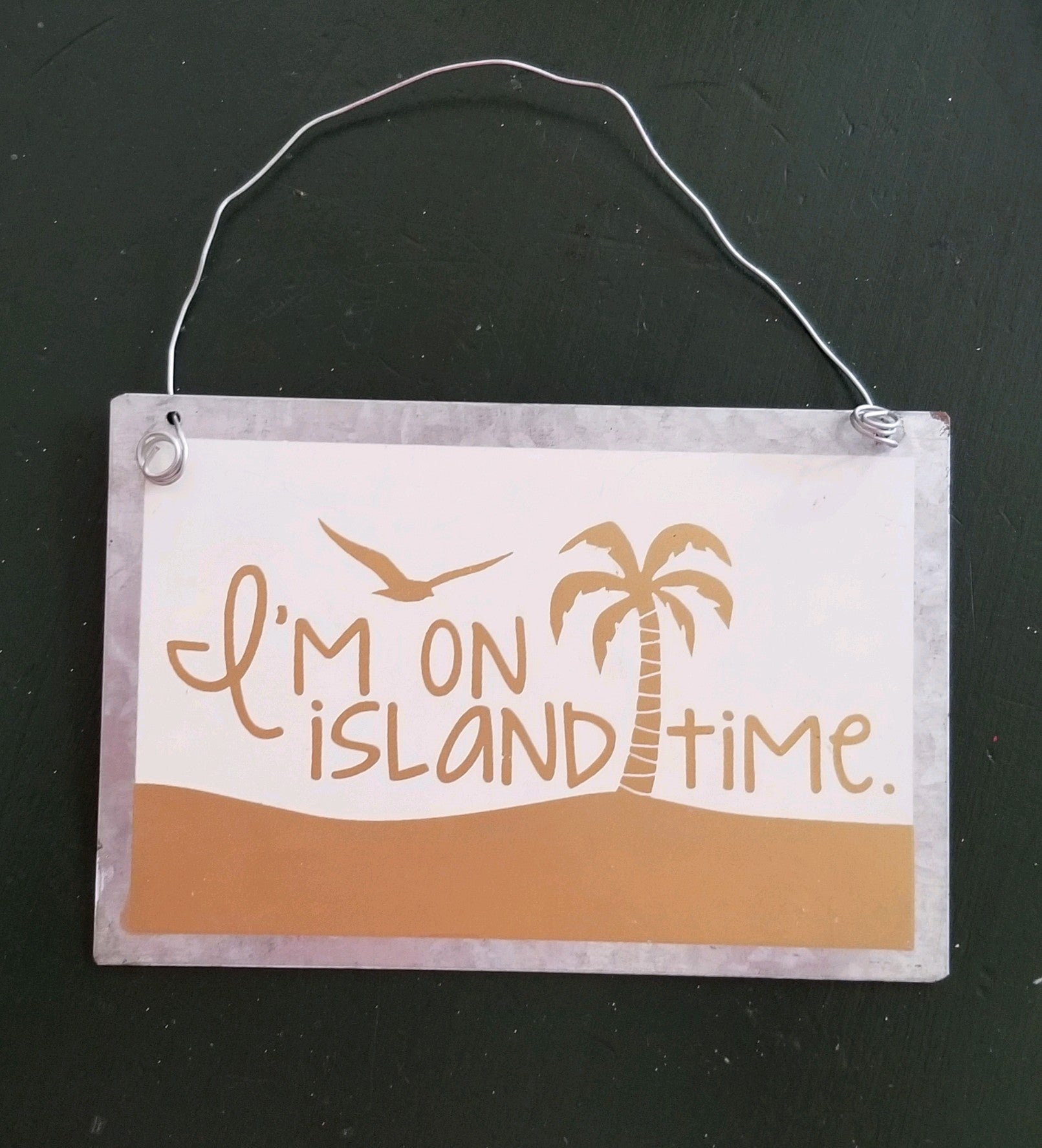 I'm on Island Time Metal Sign