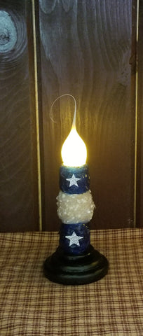Americana Star Charming Light Candle Taper Holder - Remote