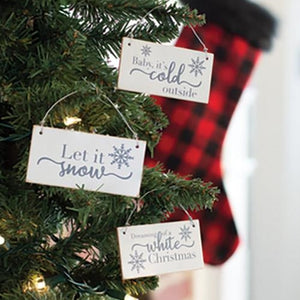 Wooden Christmas Ornament Signs