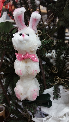Thumper Bunny Taper Remote Candle on Clip