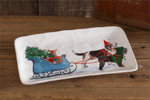 Dogs Pulling Sleigh Plate