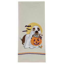 Ghost Dog Dish Towel