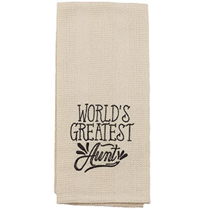 World's Greatest Aunt Towel