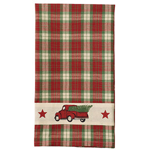 Red Truck Christmas Towel