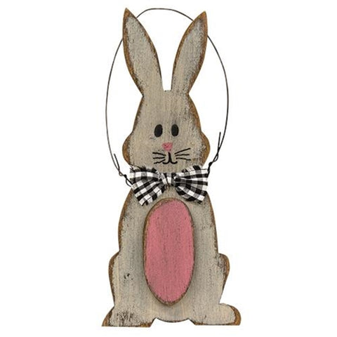 Wooden Bunny & Egg Ornament