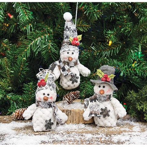 Plush and Adorable Snowman Ornament