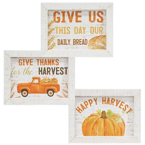 Give Thanks Harvest Sign
