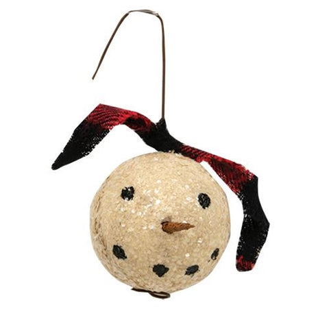 Primitive Snowman Ornament