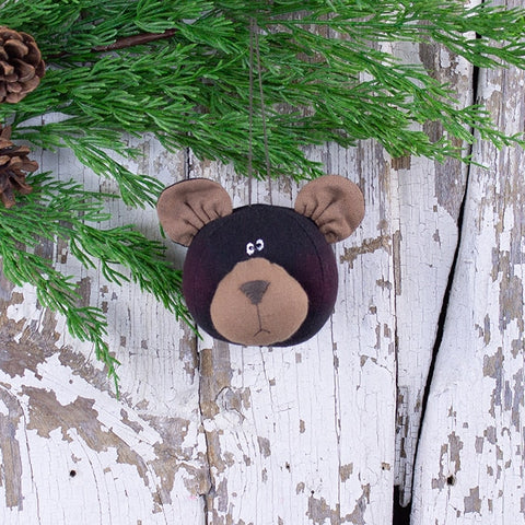 Black Bear Head Ornament