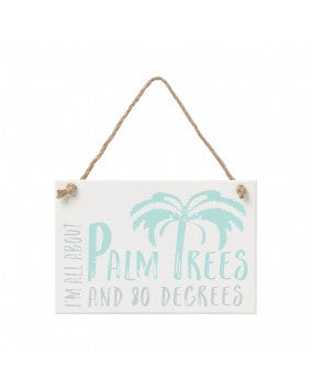Palm Trees Hanging Sign