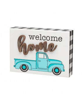 Welcome Home Truck Box Sign