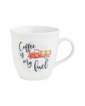 Coffee is my Fuel Red Stake Truck Mug