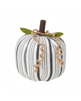 Pumpkin - Medium White/Navy Striped