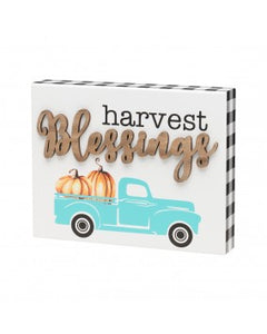 Harvest Blessings Block Sign