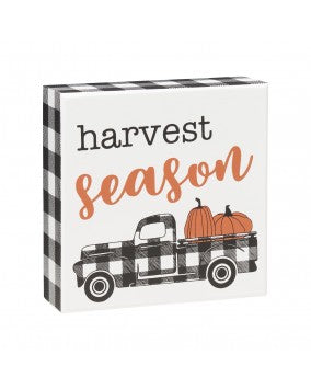 Harvest Season Block Sign