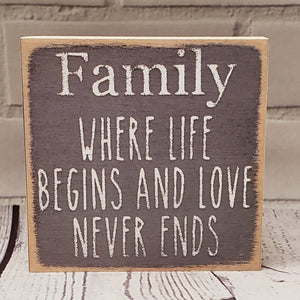 Family/Life Sign