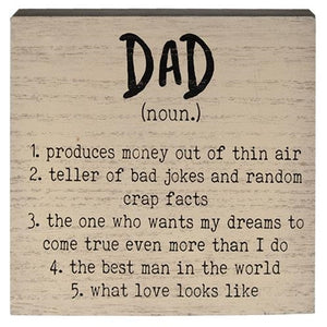 Dad Definition Sign