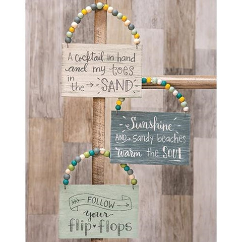 Beachy Hanging Signs