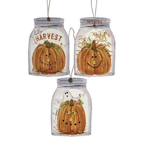 Happy Fall Mason Jar Ornaments