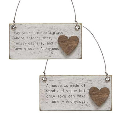 Home Charm Ornament Set of 2