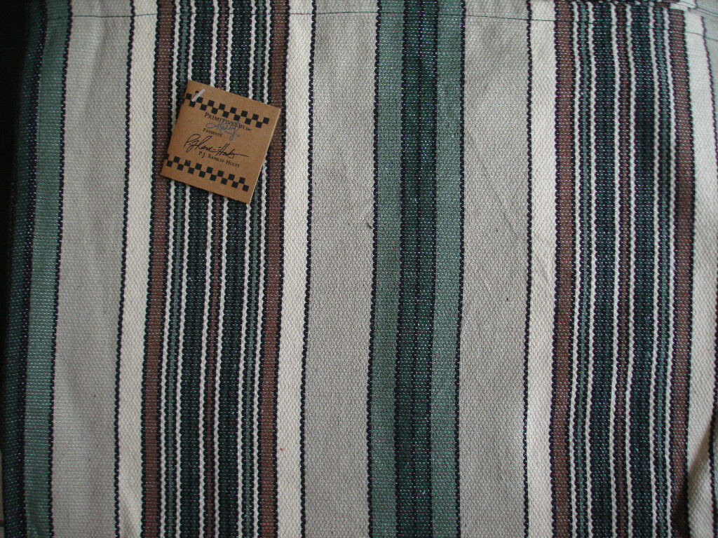 Spring Green Striped Runner & Towel