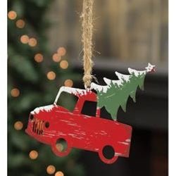 Traveling Tree Truck Ornament