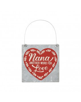 Nana Love Tin Ornament