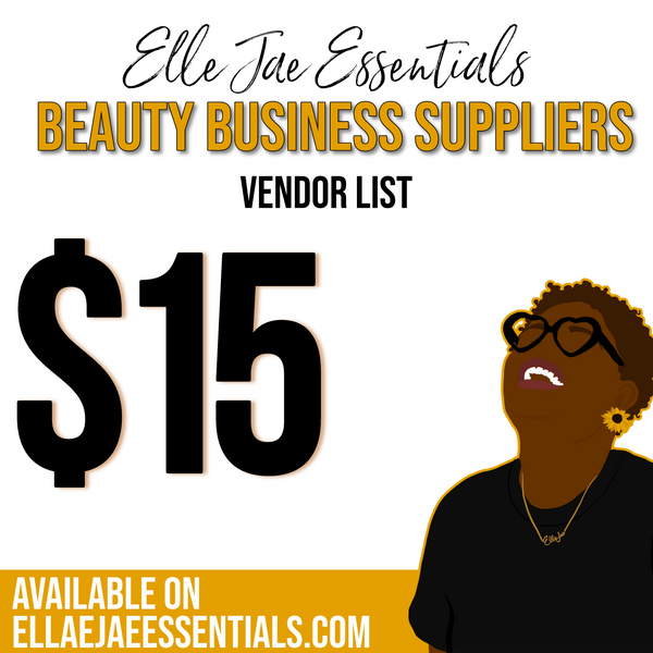 Beauty Business Vendor List