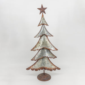 Silver and Brown Metal Tree