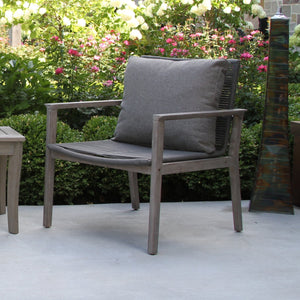 Rope & Grey Wash Eucalyptus Lounge Chair