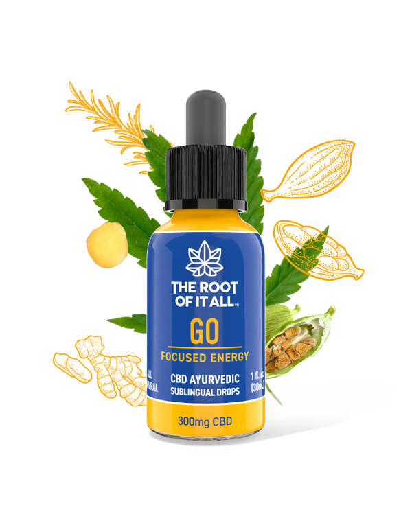 GO - Ayurvedic CBD Oil Tincture for Focus & Energy