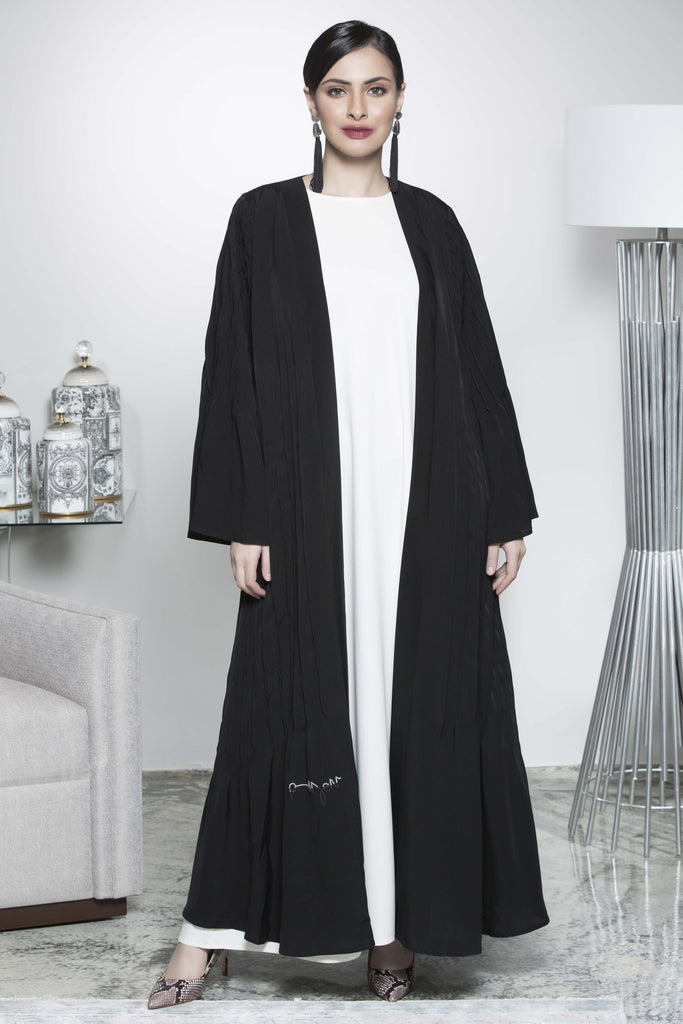 BLACK BOX PLEAT SOALON ABAYA