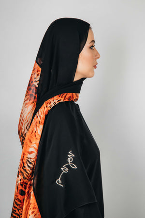 BLACK GRAPHIC PRINTED CHIFFON SHEILA.