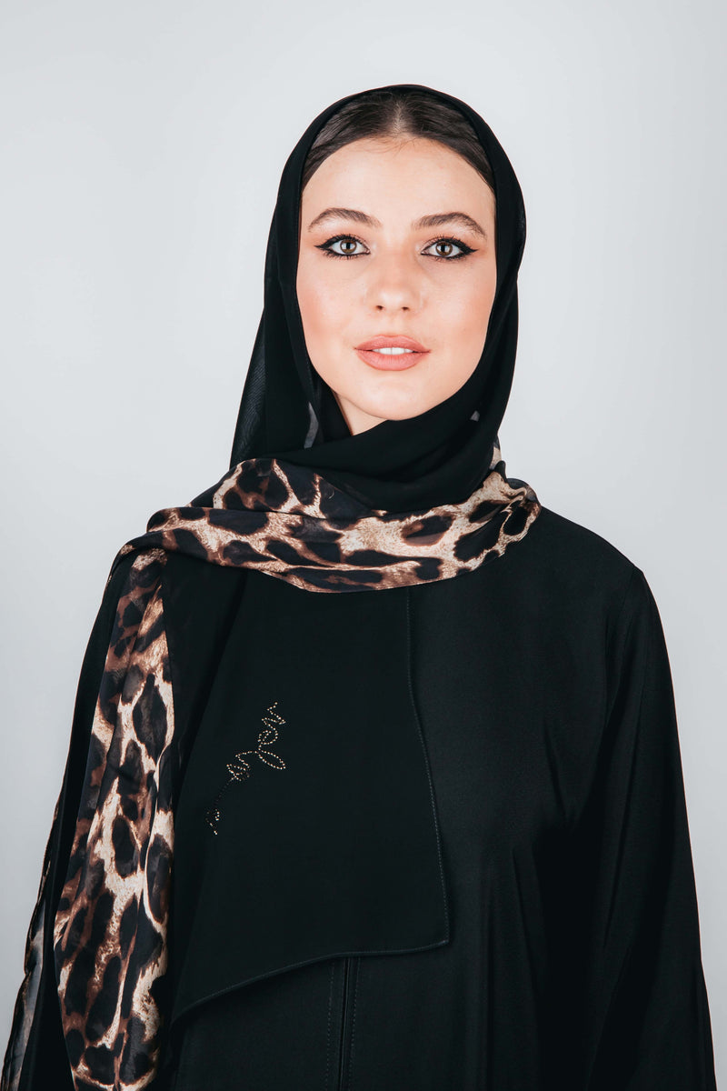 BLACK CHIFFON GRAPHIC PRINTED SHEILA.