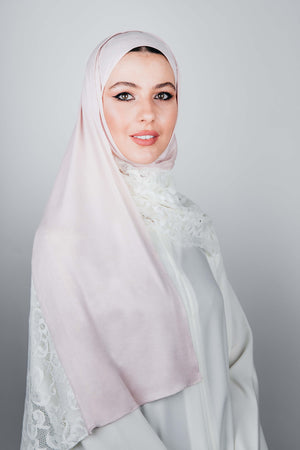 WHITE FRENCH LACE BEIGE COTTON SHEILA.