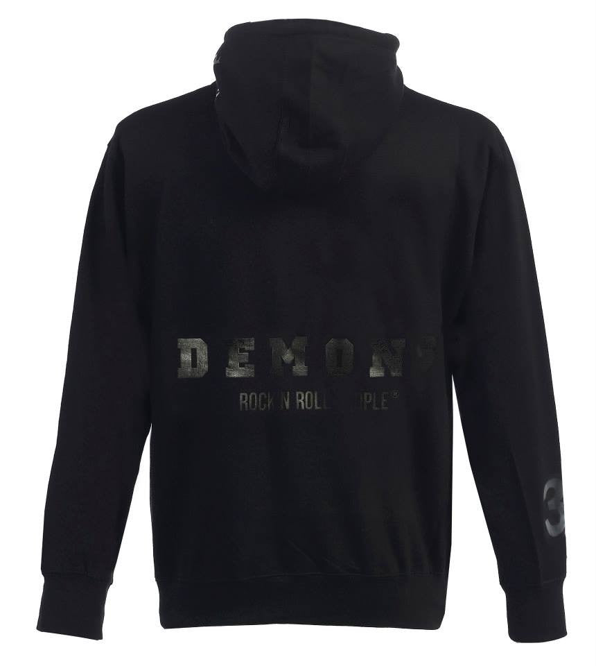 "Hoodie ""Los Angeles"" - black on black"