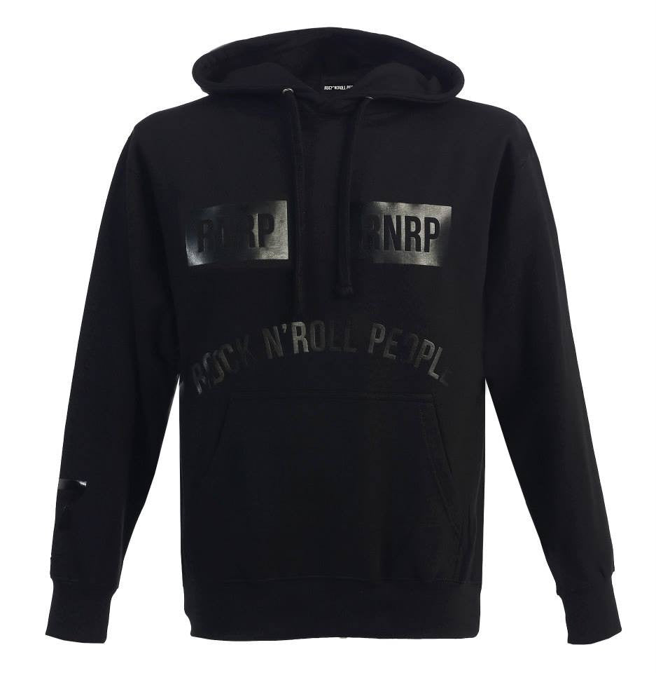 """Los Angeles"" Hoodie - black on black"