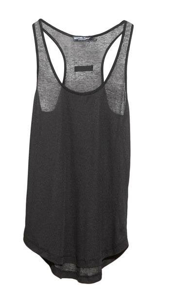 "Ribbed fabric tank top ""Anna"" (Black)"