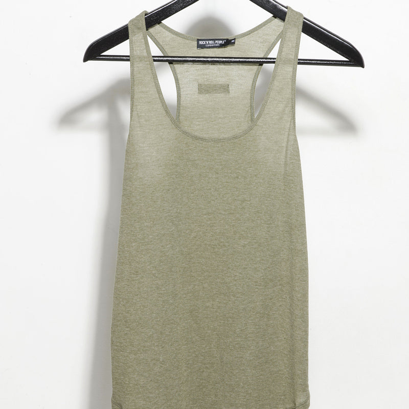 Ribbed fabric tank top
